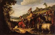 LASTMAN, Pieter Pietersz. Abraham on the Way to Canaan oil painting picture wholesale