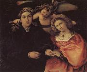 Lorenzo Lotto Portrait of Messer Marsilio and His Wife oil