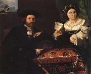 Lorenzo Lotto Husband and Wife oil