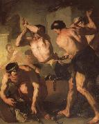 Luca Giordano Vulcan's Forge oil painting picture wholesale