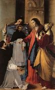 MAINO, Fray Juan Bautista The Virgin,with St.Mary Magdalen and St.Catherine,Appears to a Dominican Monk in Seriano oil painting artist