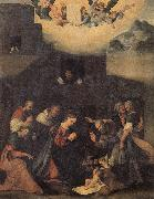 MAZZOLINO, Ludovico The Adoration of the Shepherds oil painting artist