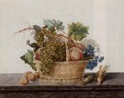 Madame Elie Still life of fruit in a bowl,upon a stone ledge oil painting picture wholesale