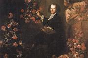 Mario Dei Fiori Self-Portrait with a Servant and Flowers oil painting artist