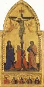 Nardo di Cione Crucifixion Scene with Mourners SS.Jerome,James the Lesser,Paul,James the Greater,and Peter Martyr oil painting artist