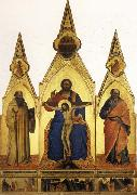Nardo di Cione The Trinity and SS.Romuald and john the Evangelist Three Stories from the Life ofSt.Romuald oil painting artist