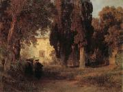 Oswald achenbach Monastery Garden oil painting picture wholesale