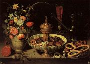 PEETERS, Clara Still life with Vase,jug,and Platter of Dried Fruit oil painting picture wholesale