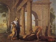POUSSIN, Nicolas Theseus Finding His Father's Arms oil painting picture wholesale