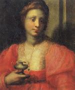 PULIGO, Domenico Portrait of a Woman Dressed as Mary Magdalen oil painting artist