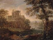 Paolo Anesi Rome,a view of tivoli with the temple of the temple of the tiburtine sibyl oil painting picture wholesale