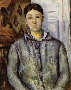 Paul Cezanne Madame Cezanne in Blue oil painting picture wholesale