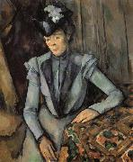 Paul Cezanne Woman in Blue oil painting picture wholesale