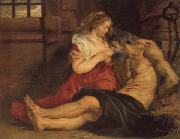 Peter Paul Rubens A Roman Woman's Love for Her Father oil painting picture wholesale