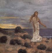 Pierre Puvis de Chavannes Mad Woman at the Edge of the Sea oil painting reproduction