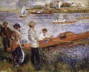 Pierre Renoir Oarsmen at Chatou oil painting reproduction