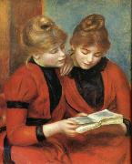 Pierre Renoir Young Girls Reading oil painting picture wholesale