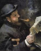 Pierre Renoir Chaude Monet Reading oil painting picture wholesale