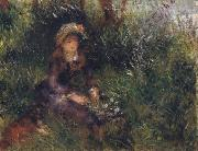 Pierre Renoir Madame Renoir with a Dog oil painting reproduction