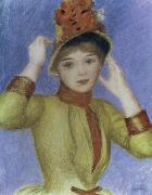 Pierre Renoir Bust of a Woman with Yellow Corsage oil painting picture wholesale