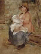 Pierre Renoir Maternity-Baby at the Breast(Aline and her son Pierre) first version oil painting picture wholesale