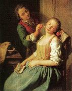 Pietro Antonio Rotari Sleeping Girl oil painting artist