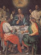 Pontormo The Supper at Emmaus oil painting artist