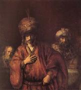 REMBRANDT Harmenszoon van Rijn The Condemnation of Haman oil painting picture wholesale