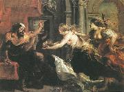 RUBENS, Pieter Pauwel Tereus Confronted with the Head of his Son Itylus oil painting picture wholesale