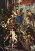 RUBENS, Pieter Pauwel Madonna Enthroned with Child and Saints oil painting picture wholesale