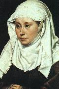 Robert Campin Portrait of a Lady oil painting artist