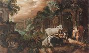 Roelant Savery Herders resting and watering their animals by a set of ruins oil painting picture wholesale