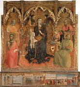 SASSETTA Madonna and Child Enthroned with Four Angels and SS.John the Baptist,Peter,Francis,and Paul oil painting picture wholesale