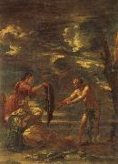 Salvator Rosa Odysseus and Nausicaa oil painting picture wholesale