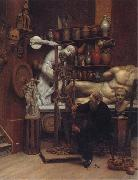 Samuel Butler Mr Heatherley's Holiday:an Incident in Studio Life oil painting artist