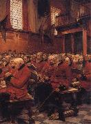 Sir Hubert von Herkomer,RA,RWS The Last Muster oil painting artist