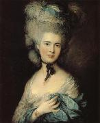 Thomas Gainsborough A woman in Blue oil painting picture wholesale