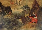 Tobias Verhaeght Landscape with john the Evangelist Writing the Book of Revelation on the Island of Patmos oil painting picture wholesale