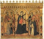 Vecchietta Madonna and Child Enthroned with SS.Bartholomew,James,Eligius,Andrew,Lawrence and Dominic oil painting picture wholesale