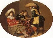 Willem Cornelisz Duyster Officers Playing Backgammon oil painting picture wholesale