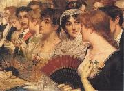 William Holyoake Inthe Front Row at the Opera oil painting artist