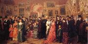 William Powell  Frith Private View of the Royal Academy 1881 oil painting artist