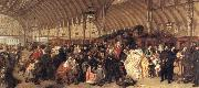 William Powell  Frith The Railway Station oil painting picture wholesale