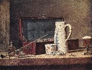 jean-Baptiste-Simeon Chardin Still-Life with Pipe an Jug oil painting picture wholesale