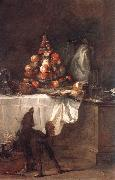 jean-Baptiste-Simeon Chardin The Buffet oil