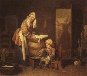 jean-Baptiste-Simeon Chardin The Washerwoman oil