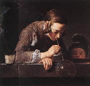 jean-Baptiste-Simeon Chardin The Soap Bubble oil