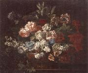 unknow artist Still life of various flowers,in a wicker basket,upon a stone ledge oil painting picture wholesale