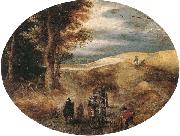 unknow artist A Hilly landscape with a Horse-Drawn cart and other oil painting picture wholesale