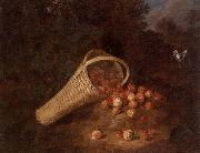unknow artist A wooded landscape with sirawberries spilling from an overturned basket oil painting picture wholesale
